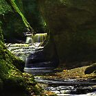 Finnich Glen Waterfall by Colstie