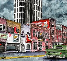 Nashville Tennessee country music art by derekmccrea