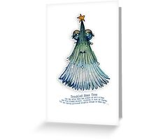 Little Profiles Troubled Xmas Tree Greeting Card