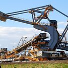 Coal Stacker/Reclaimer - Kooragang Island, Newcastle NSW by Phil Woodman