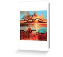 Arran From Portencross Greeting Card