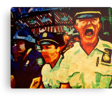 Really Pissed Off Cops Metal Print