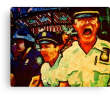 Really Pissed Off Cops Canvas Print