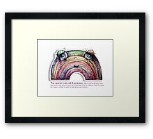 Little Profiles The Secret Life of Rainbows Framed Print
