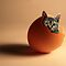 Kitten in an egg by Brian Edwards
