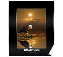 """Gratitude"" Bald Eagle Poster"