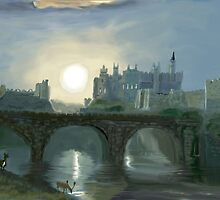 Alnwick Castle after Turner by MayWebb