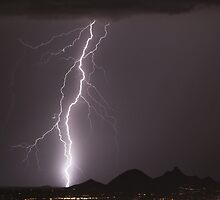 Lightning Strikes North Scottsdale by Bo Insogna