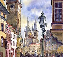 Prague Old Town Square 2 by Yuriy Shevchuk