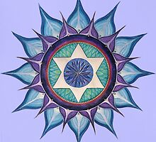 Mandala : Blooming Star by danita clark