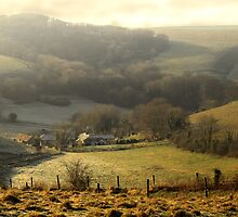Mist Over A Valley by Nigel Finn