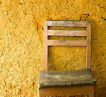 Chair and mud wall by jenheal
