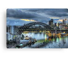 Somewhere - Moods Of A City - The HDR Experience Canvas Print