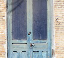 OLD BLUE DOOR IN SAN PEDRO by LadyE