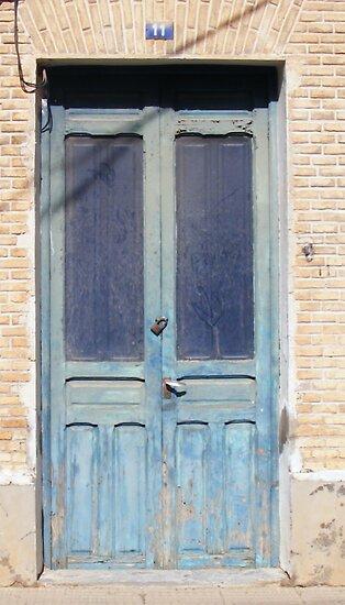 OLD BLUE DOOR IN SAN PEDRO by LadyE