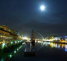 Dublin Docklands by moonlight by pogs79