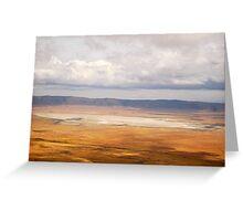 Ngorongoro Crater, UNESCO World Heritage Site Greeting Card