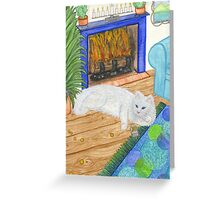 Kindle Cat Greeting Card