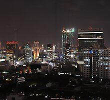 Bangkok skyline evening 2 by nigyoung