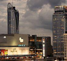 Bangkok skyline evening 4 by nigyoung