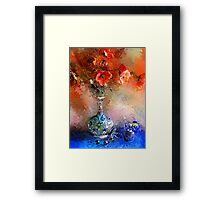 Poppies and Glass Marbles Framed Print