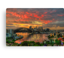 Oh What a Beautiful Morning - Moods Of A City,Sydney Australia - The HDR Experience Canvas Print