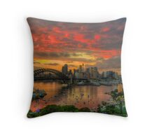 Oh What a Beautiful Morning - Moods Of A City,Sydney Australia - The HDR Experience Throw Pillow