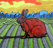 281 - TONY THE TOWN BUNNY - DAVE EDWARDS - COLOURED PENCILS - 2009 by BLYTHART