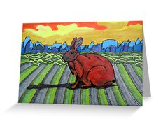 281 - TONY THE TOWN BUNNY - DAVE EDWARDS - COLOURED PENCILS - 2009 Greeting Card