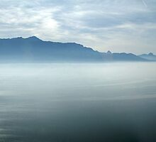 Leman lake by Fran E.