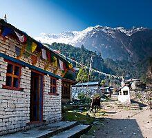 Entrance in to Nepali village by Erdj