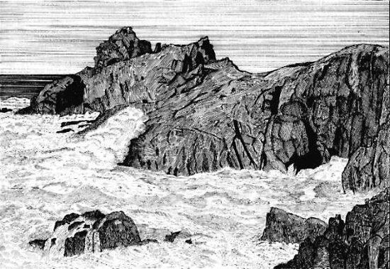 125 - GURNARD'S HEAD, PENWITH, CORNWALL - DAVE EDWARDS - INK - 1986 by BLYTHART