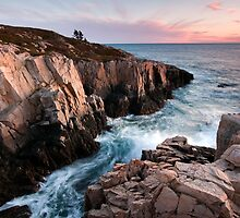 Red Rock Cliffs - Little Moose Island by Patrick Downey
