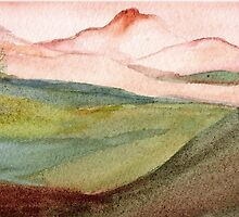 Landscape Original Painting by Marsha by Marsha Woods