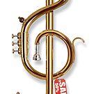 Treble clef trumpet by R-evolution GFX
