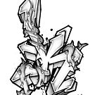 The letter 'K' by CAX-ONE