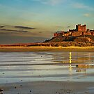 Bamburgh Castle Dusk by Phillip Dove