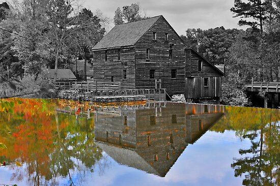 Mirror Image - Grist Mill Reflections by Michael Rubin