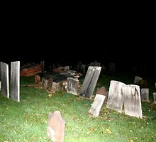 Halloween Night in the Cemetery by Jim Sugrue