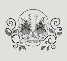 Orchid Eye Skull by Danielle Reck