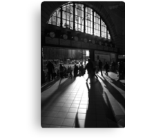 Flinders Street morning crowd Canvas Print