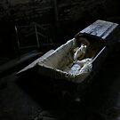 Coffin in asylum basement by DariaGrippo