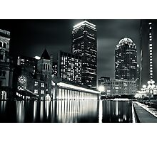 Boston Back Bay Skyline at Night Photographic Print