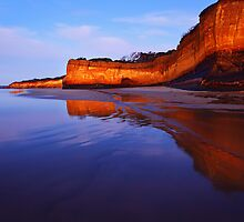 Anglesea Cliff Reflection by Mark Shean