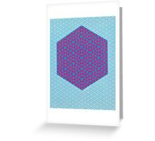 Silicon Atoms HyperCube Blue Pink Greeting Card
