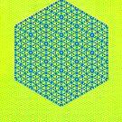 Silicon Atoms HyperCube Yellow Blue by atomicshop