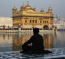 Meditation In Amritsar, Punjab, India by RIYAZ POCKETWALA