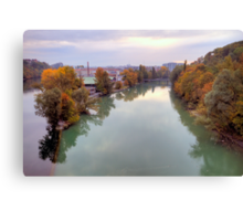 River Rhone and Arve Canvas Print