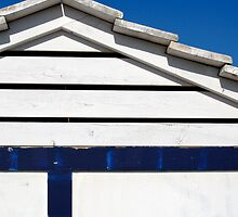 Blue and White Beach Hut, Costa Brava, Spain by Petr Svarc