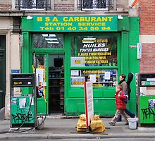 Paris - Gas Station. by Jean-Luc Rollier